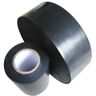 PE Pipe Anti-corrosion Wrap Tape, Single Sided, Rubber, Black