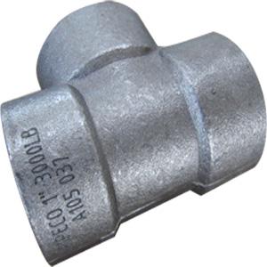 ASME B16.11 Tee, ASTM A105, 2×2 Inch, 2000 LB, FNPT