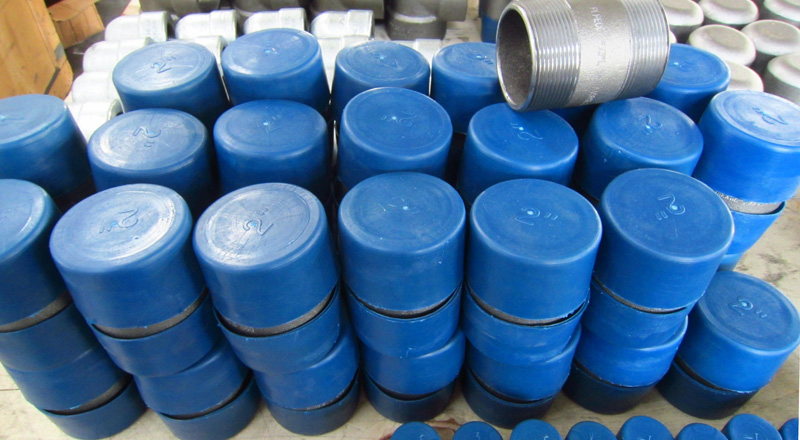 Galvanized Nipple, ASTM A106, SCH 80, 3/4 x 4 Inch, TBE