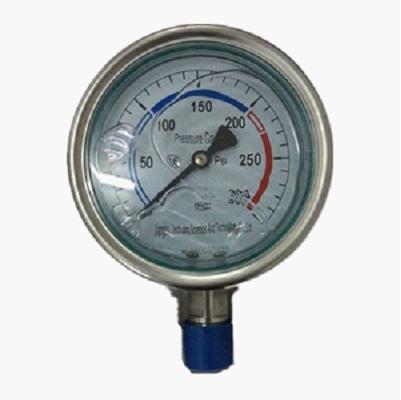 SS304 Pressure Gauge, 1/2-4 Inch, 0-300psi, TRD Ends