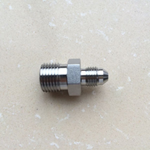 SS316 Male Hex Nipple BS3799 1/4 Inch JIC x NPT 6000 PSI