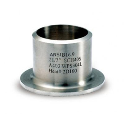 Stainless Steel Stub End, A403 WP304L, 2-1/2 Inch, SCH 40S