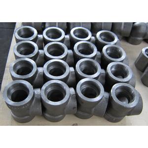 ASTM A105 Reducer Tee, ASME B16.11, 1x3/4 Inch, CL3000