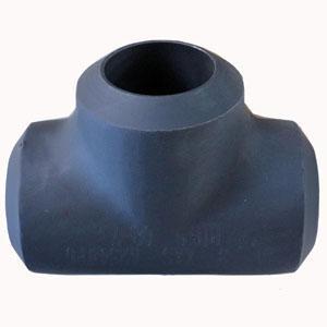 ASTM A234 WP5 Equal Tee, ASME B16.9, SCH XXS, 8 Inch, Black
