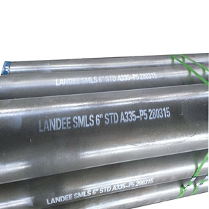 ASTM A335 P5 Alloy Steel Pipe, 6 Inch, 6 Meters, SCH STD, BE