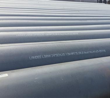 API 5L Gr.B LSAW Pipe, ASME B36.10, 12 Meters, 24 Inch, SCH XS