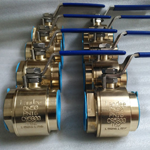 ASTM B 148 C95800 Ball Valve, DN50, PN16, Threaded NPT Ends