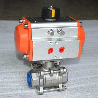 气动驱动NPT球阀,A351 CF8M,DN50,1000 PSI