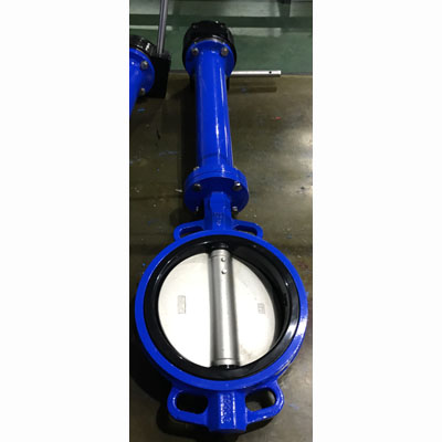 8 Inch Butterfly Valve, Wafer Type, Ductile Iron, 150 LB, Blue