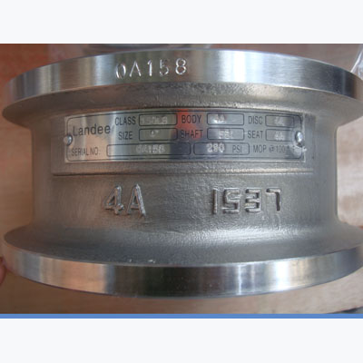 CL150 Dual Plate Wafer Check Valve, A890 4A, 3IN, RF