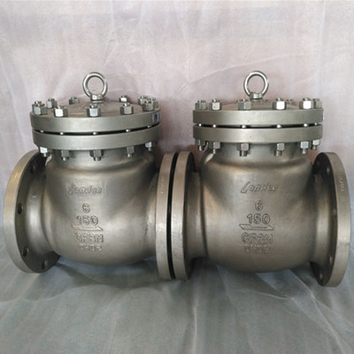 Class 150 Swing Check Valve, ASTM A351 CF8M, 6 Inch, Flanged