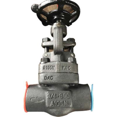 实心楔形明杆闸阀,ASTM A105, SW, 3/4英寸,800磅