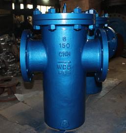 ASTM A216 WCB斗式过滤器,304不锈钢网