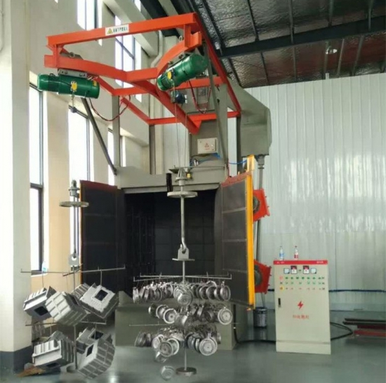 Auto Parts Hanger Shot Blasting Machine, Increase Roughness