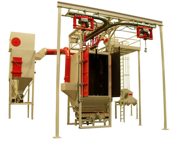 Overhead Conveyor Shot Blasting Machine