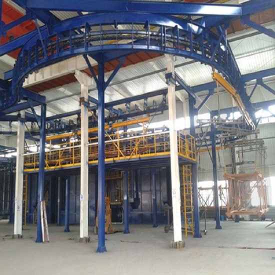 Pass-Through Monorail Shot Blasting Machine