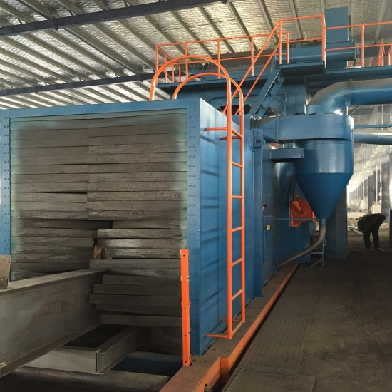 Roller Conveyor Shot Blasting Machine, Continuous