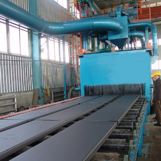 Steel Plate Shot Blasting Machine, Automatic, Compact