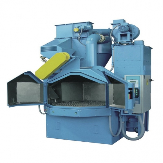 Rotary Table Shot Blasting Machine, For Metal Polishing