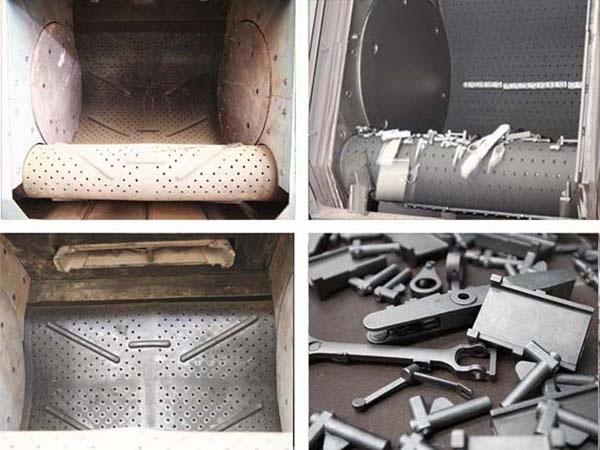 China Continuous Belt Tumble Shotblasters Mill China