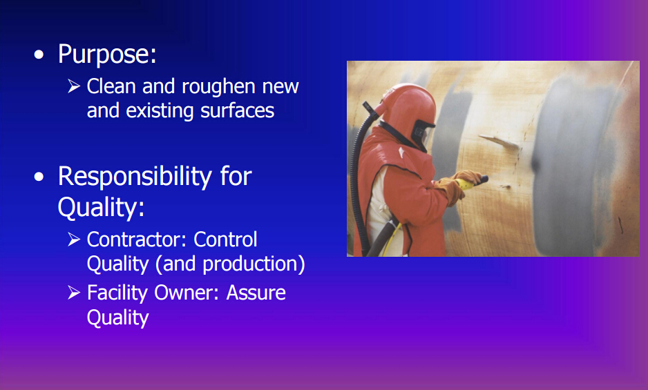 Overview Of Dry Abrasive Blast Cleaning Operations