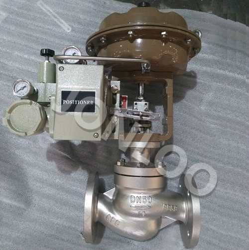 Globe Type Control Valve With Pneumatic Actuator and Positioner