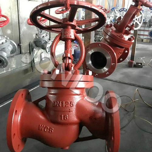 Carbon Steel Globe Valve with Handwheel PN16 DN125 WCB  DIN 3356