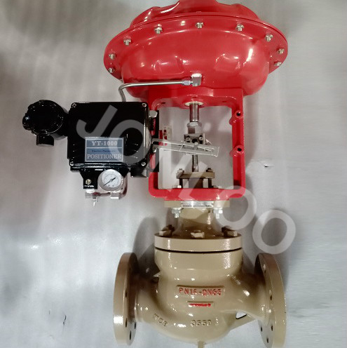 Globe Type Control Valve with Pneumatic Actuator and Positioner DN65 PN16
