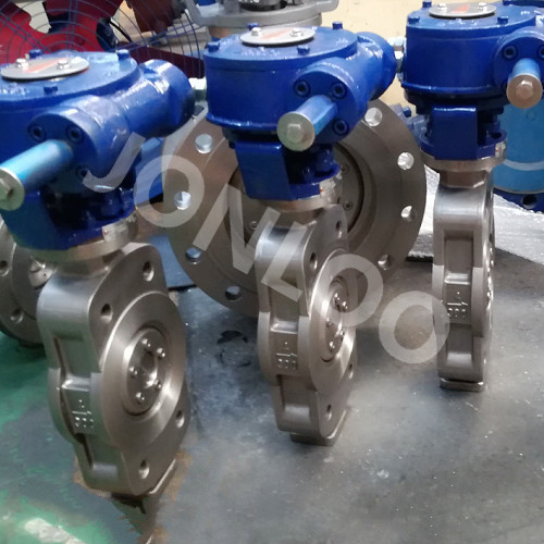 Super Duplex Double Offset Butterfly Valve wafer type 4inch 150LB
