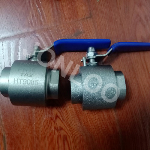 TA2 Ball Valve Threaded ends with Lever
