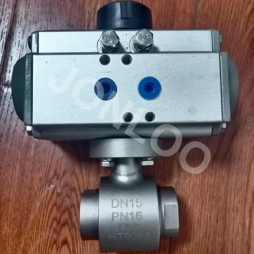Titanium Ball Valve with Pneumatic Actuator