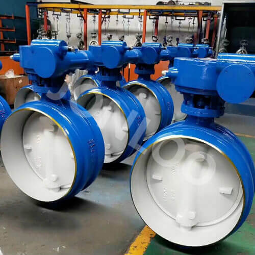 Butt Weld Butterfly Valve PN 25 DN 800 A 216 WCB Body and Disc