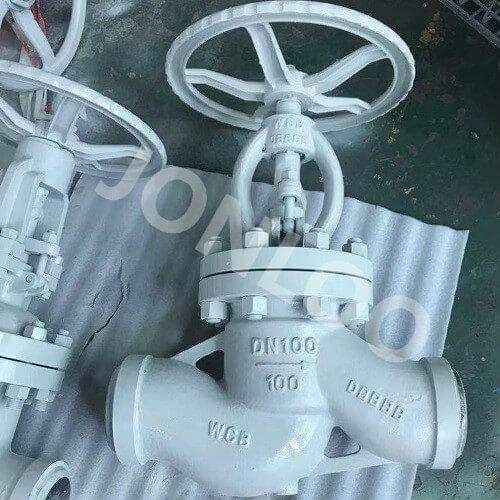Butt Weld Globe Valve PN100 DN100 WCB Handwheel