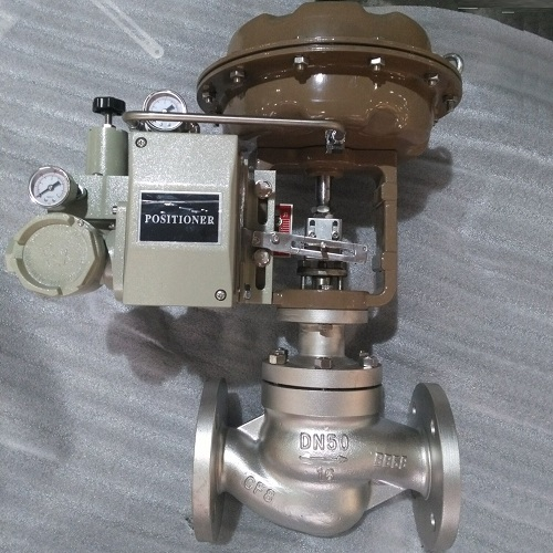 Control Valve Globe Type with Positioner for Our Client