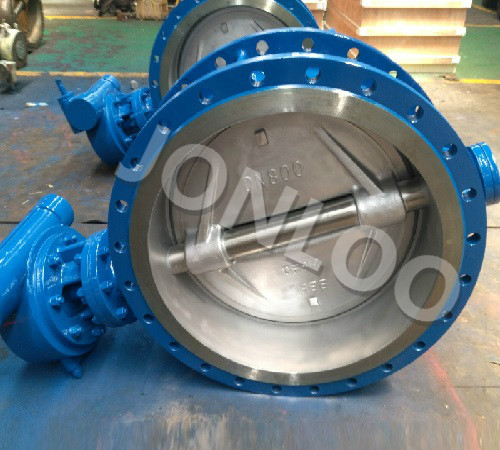 Double Flanged Butterfly Valve Dn 800 Pn 10 A216 WCB Body CF8M Disc