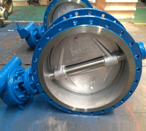 Double Flanged Butterfly Valve Triple Offset Dn 800 Pn 10 A216 WCB Body CF8M Disc