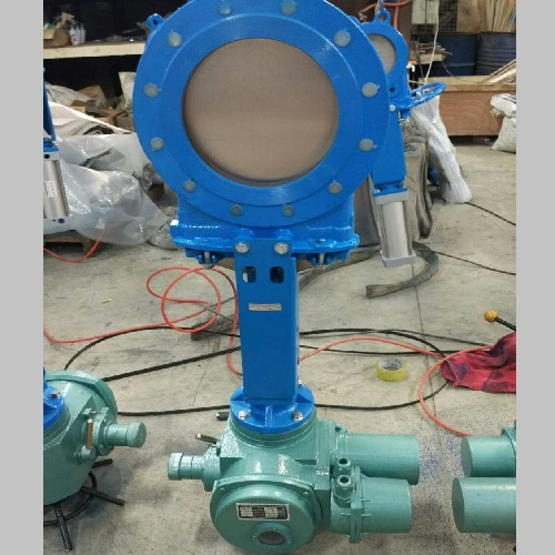 Electric Actuated Knife Gate Valve DN 250 PN 10 A216 WCB