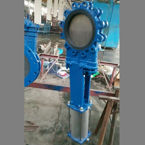 Knife Gate Valve with Pneumatic Actuator and Solenoid for Slurry Application
