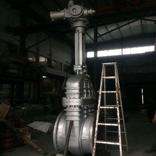 Motorized Gate Valve 900mm PN16 A216 WCB Rising-stem