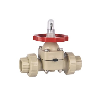 PPH Diaphragm Valve Double Union Socket