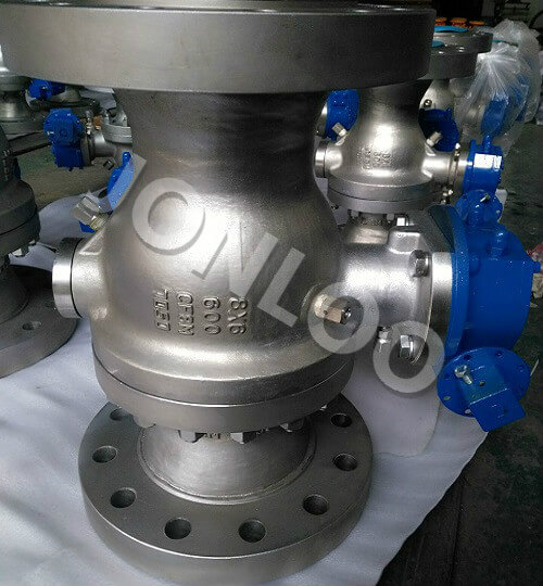 Reduced Bore Trunnion Mounted masaladesi\ 600LB RF Stainless Steel