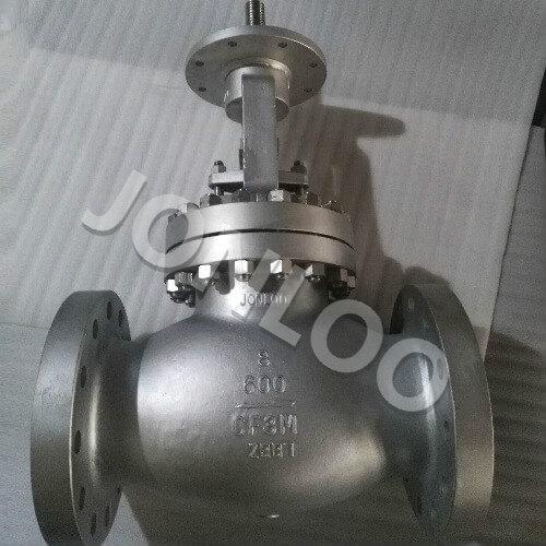 Stainless Steel Globe Valve 8 Inch 600LB  Bare Stem for  AUMA Actuator