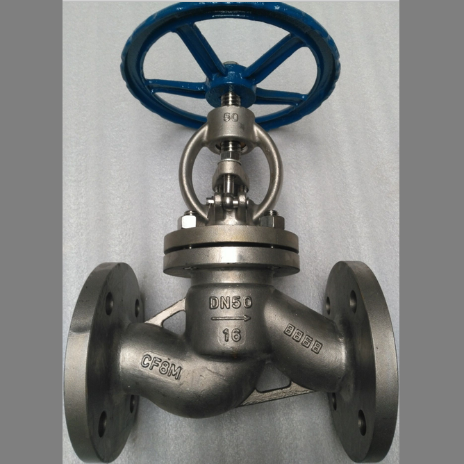 Stainless Steel Globe Valve DN 50 PN 16 RF A351 CF8M DIN 3356
