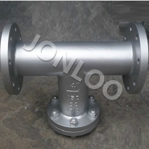 T Strainer 4 inch 150 LB A216 WCB Flanged Ends