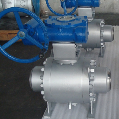 Butt Welded Ball Valve 10 inch 300LB A105N Trunnion mounted ball API 6D