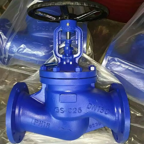 DIN 3356 Bellows Seal Globe Valve DN 150 PN16 GS-C25