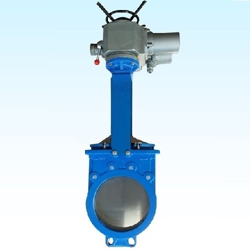 Ductile Iron GGG40 Motorized Knife Gate Valve DN250 JIS10K wafer type