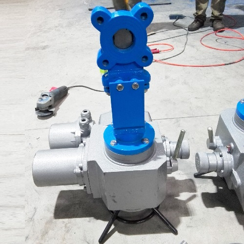 Electrical knife gate valve DN80mm PN10 GG25 Wafer Type