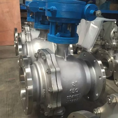 Floating Type Ball Valve 3 inch 150 LB RF A216 WCB Worm Gear