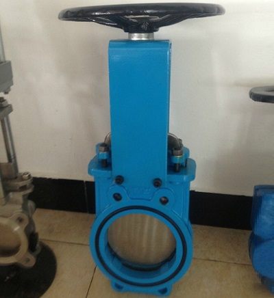 Wafer Knife Gate Valve  DN150MM PN10 GG25 GGG40 Rubber Seat